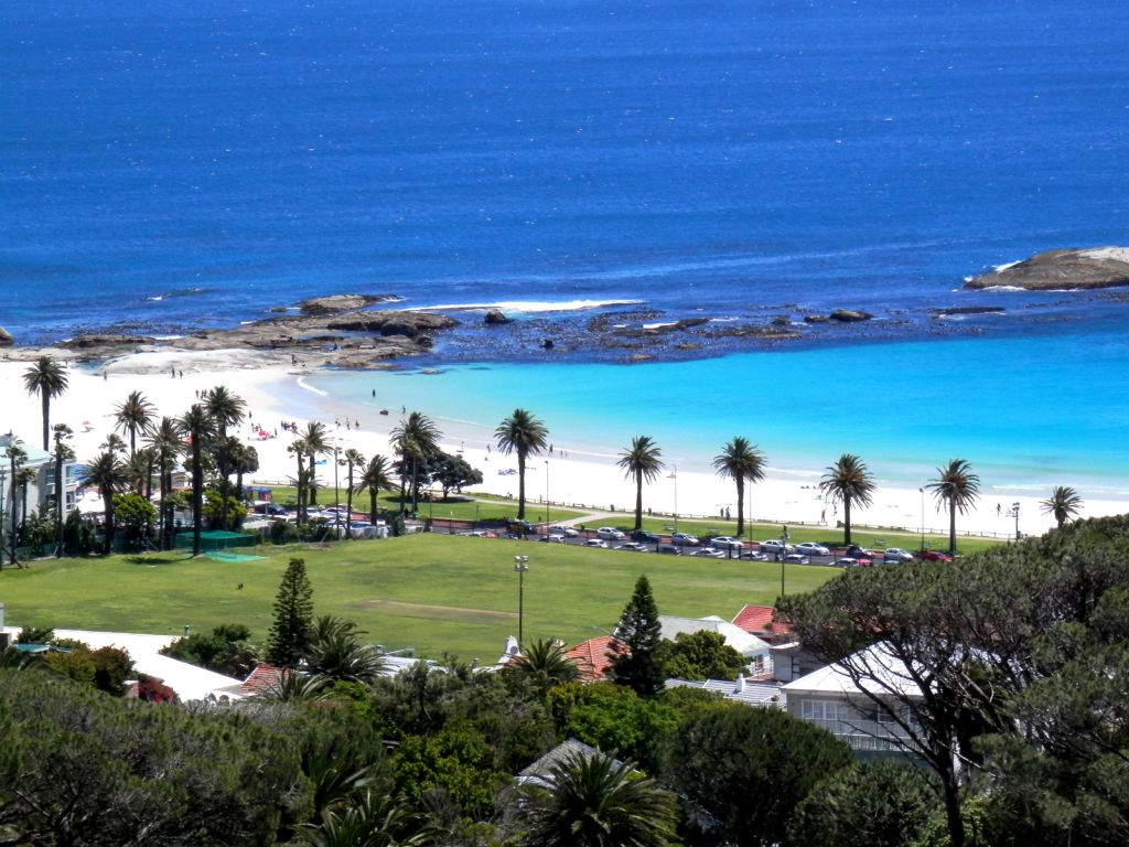 Camps Bay Palm lined beach