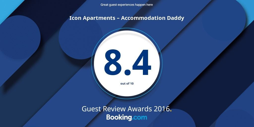 We are awarded the Booking.com Guest Review Award for 2016