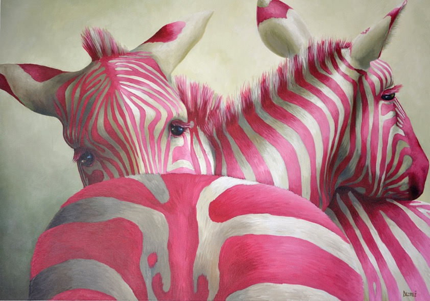 Pink Zebras; symmetry and stripiness