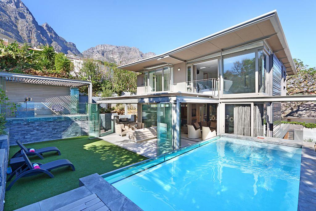 1 Exterior beyond pool towards house